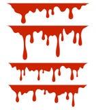 Rode druipende verf, op witte achtergrond stock illustratie