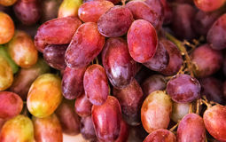 Rode druiven, achtergrond Royalty-vrije Stock Fotografie