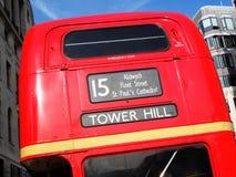 Rode dubbele het dekbus van Londen Routemaster Stock Fotografie