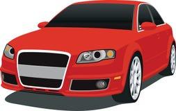 Rode Duitse Sedan 2007 stock illustratie