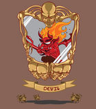 Rode Duivel. Halloween Royalty-vrije Stock Foto