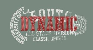 Rode dynamisch vector illustratie