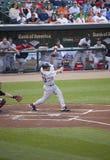 Rode eerst baseman Sox, Kevin Youkilis Stock Afbeeldingen