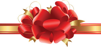 Rode elegante boog Stock Afbeelding