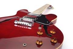 Rode elektrische gitaar royalty-vrije stock foto's