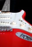 Rode elektrische gitaar Stock Foto