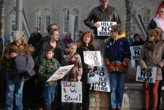 RODE EM MARCHA LENTA NÃO MAIS - Guelph, protesto de Ontário Foto de Stock Royalty Free