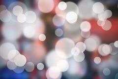 Rode en blauwe abstracte achtergrond - bokeh Royalty-vrije Stock Fotografie