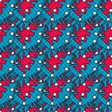 Rode en blauwe abstracte voorwerpen Stock Afbeelding
