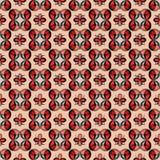 Rode en blauwe abstracte voorwerpen in retro stijl Stock Afbeeldingen