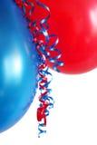 Rode en Blauwe Ballons Stock Foto's