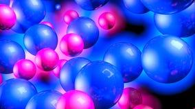Rode en blauwe driedimensionele gebieden Neongloed Samenvatting het 3d teruggeven stock illustratie