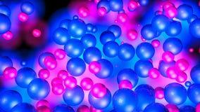Rode en blauwe driedimensionele gebieden Neongloed Samenvatting het 3d teruggeven royalty-vrije illustratie