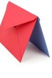 Rode en blauwe enveloppen Royalty-vrije Stock Afbeeldingen