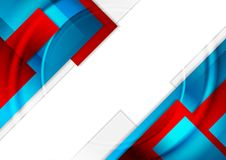 Rode en blauwe glanzende geometrische achtergrond Stock Afbeelding