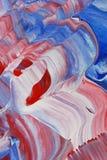 Rode en blauwe golven Stock Foto's