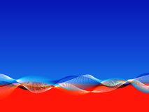 Rode en blauwe golvende achtergrond Royalty-vrije Stock Afbeelding