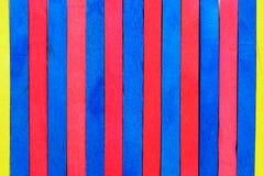 Rode en blauwe houten achtergrond Stock Fotografie