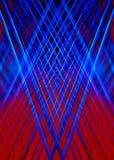 Rode en blauwe lichtstralenachtergrond Stock Foto