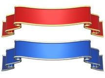 Rode en blauwe linten Royalty-vrije Stock Afbeelding