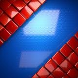 Rode en blauwe metaalachtergrond Stock Foto