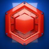 Rode en blauwe metaalachtergrond Stock Fotografie