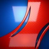 Rode en blauwe metaalachtergrond teruggegeven 3D stock illustratie