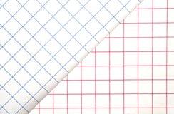 Rode en Blauwe Netten/Achtergrond Stock Afbeeldingen