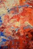 Rode en blauwe olieverfachtergrond royalty-vrije stock afbeelding