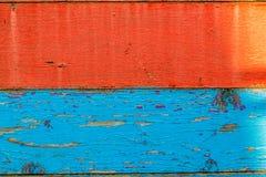 Rode en blauwe raad Stock Foto's