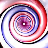 Rode en blauwe spiralenperspecti Stock Afbeeldingen