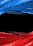 Rode en blauwe stralen op zwarte achtergrond. Hoge resolutie abstract beeld Royalty-vrije Stock Fotografie