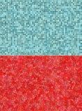 Rode en blauwe tegelachtergronden Royalty-vrije Stock Fotografie