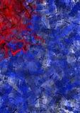 Rode en blauwe texturen Stock Foto's