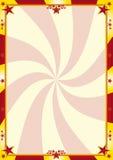 Rode en gele circusachtergrond Royalty-vrije Stock Foto's