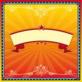 Rode en gele circuskaart Royalty-vrije Stock Afbeelding
