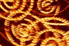 Rode en gele gekleurde lichtenachtergrond Abstracte achtergrond Stock Foto