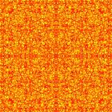 Rode en gele gestileerde achtergrond van het branden van lava met barsten royalty-vrije illustratie