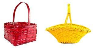 Rode en gele gevlechte mand Stock Afbeelding