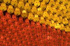 Rode en Gele Lantaarns Stock Foto