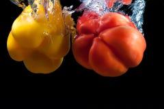 Rode en gele paprika. Royalty-vrije Stock Fotografie