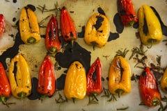Rode en gele peper Stock Afbeeldingen