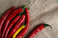 Rode en gele Spaanse peperpeper royalty-vrije stock fotografie