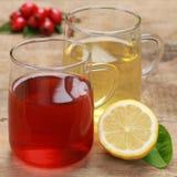 Rode en gele thee Royalty-vrije Stock Foto