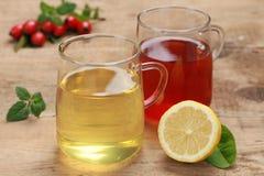 Rode en gele thee Royalty-vrije Stock Foto's
