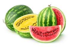 Rode en gele watermeloenen Royalty-vrije Stock Foto