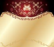 Rode en gouden achtergrond stock illustratie