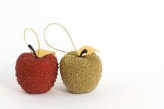 Rode en gouden appelen Stock Fotografie