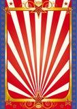 Rode en gouden circusachtergrond Royalty-vrije Stock Afbeeldingen