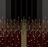 Rode en gouden en zwarte achtergrond Stock Fotografie